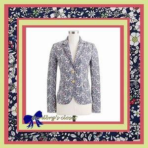 NWT, JCREW June's Meadow Floral Liberty Blazer